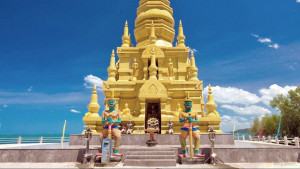 Храм Лем Со (Wat Laem Sor) и золотая пагода